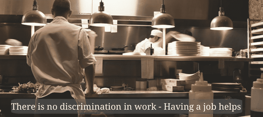 There is no discrimination in work - product review jobs - Having a job helps