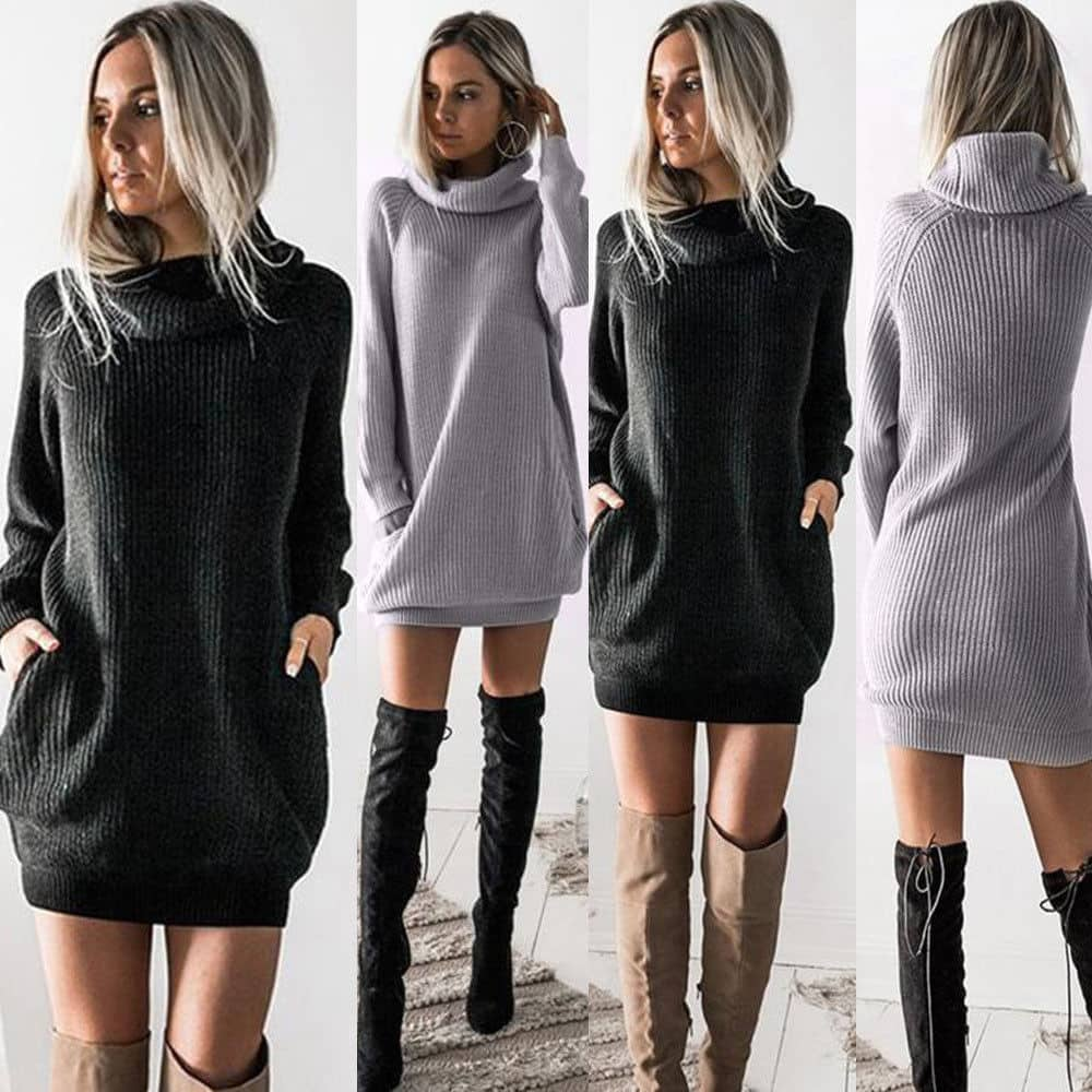 Women's Chunky Knitted Sweater Dress just another outfit collection in our fashion and styles