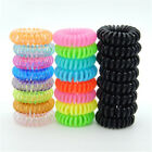10 Pcs Plastic Hair Ties Spiral Hair Ties No Crease Coil Hair Tie Ponytail FJ