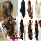 100% As Remy Human Hair Clip in Claw Jaw Ponytail Extensions Clip on Hairpiece A