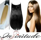 100% Human Remy Hair Extension Hidden-halo Invisible Wire Flip In Secret Weft