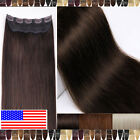 100% Real Best AAA Clip In Remy Human Hair Extensions 3/4 Full Head One Piece F0