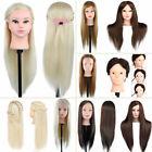 100% Real Human Hair Hairdressing Training Head Cosmetology Mannequin Salon muti