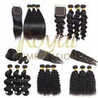 Brazilian Hair Bundles With Closure Straight 10