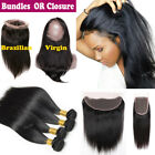 13x4 Lace Frontal 360 Closure with Baby Hair Brazilian Virgin Human Hair Bundles