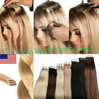150g Tape In THICK Glue REAL 100% Remy Human Hair Extensions FULL HEAD 14-24Inch