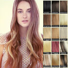 15''18''20''22''24''26'' 7PCS Clip in Remy Extensions 100% Human Hair Full Head