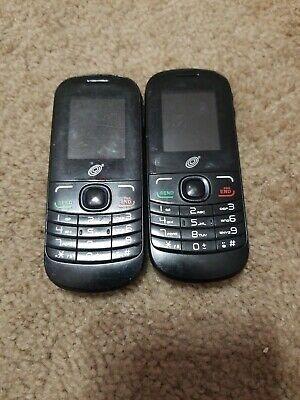2 Lot Alcatel Phone Model No. A205G-B for Tracfone Black