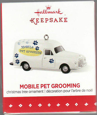 "2015 ""Mobile Pet Grooming"" Hallmark Keepsake Ornament ""LIMITED EDITION"""
