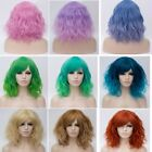 22 Colors Lolita Heat Resistant Curly Hair Ombre Anime Cosplay Wig With Bangs
