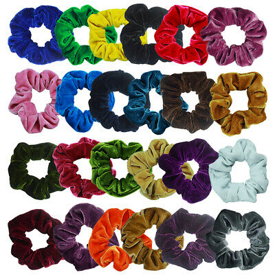 24Pack Women Girls Hair Scrunchies Velvet Elastic Hair Bands Scrunchy Hair Ties