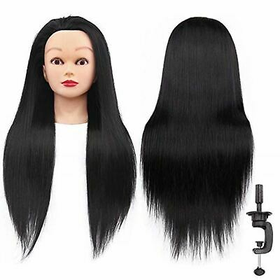 """26""""-28"""" Cosmetology Mannequin Head Human Hair Hairdressing Training Model Doll"""