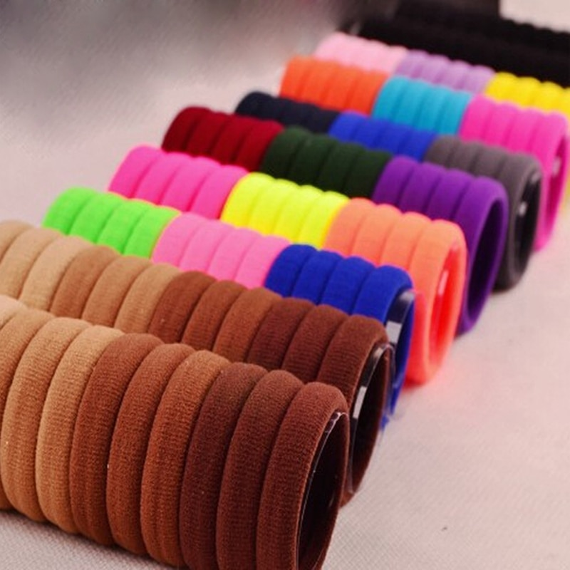 30pcs Hair Band Holders Elastic Rubber Bands Hair Accessories for Women Hair Ties Gum Maker Headband Women Headwear Scrunchies