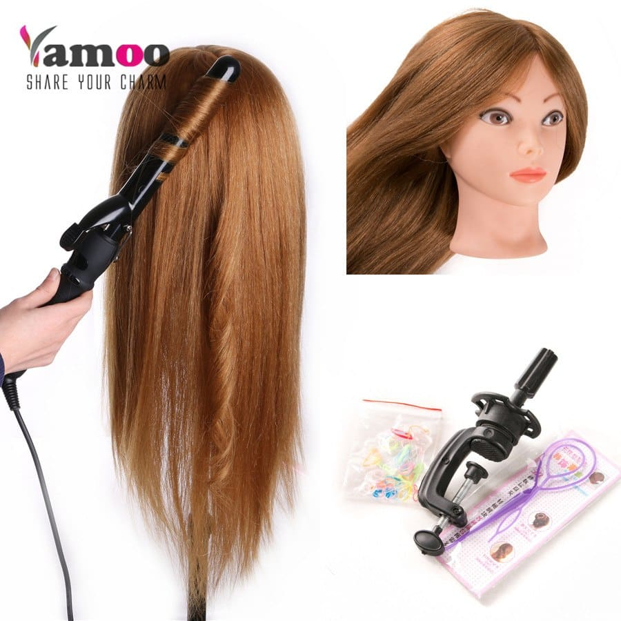 Human Hair Mannequin Head 20