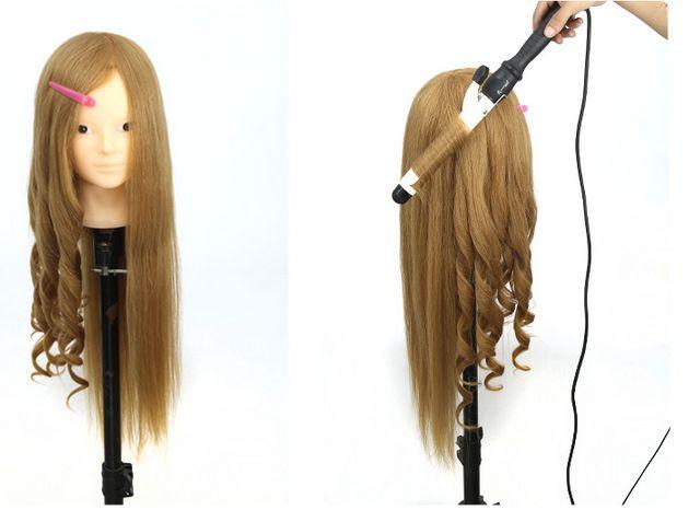 85% natural hairstyling head manikin head with human hair hairdressing mannequins mannequin head hairdresser head