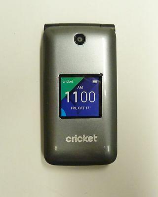 Alcatel Quick Flip 4G LTE Cell Phone Silver/Black Model: 4044C 4GB/UA14-3/12