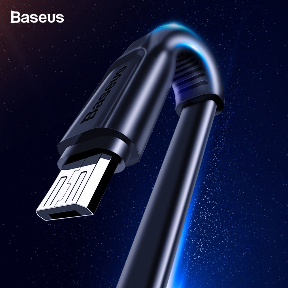 Baseus Flat Micro USB Cable Fast Charging Data Cable For Samsung A8 A7 2018 Android Mobile Phone Charger Cord Microusb Cable