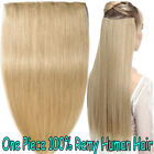 Best Blonde Weft One Piece Clip in 3/4 Full Head Real Remy Human Hair Extensions