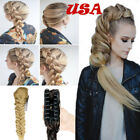 Best Hair Extension Natural As Human Jaw Ponytail Long Braid Real Thick Women US