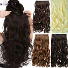 Best Quality Long Wavy Clip in Hair Extensions Real as human Hair Extension XY98