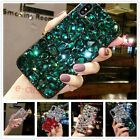 Bling Diamond Crystal Rhinestone Clear Soft TPU + PC Case Cover For Cell Phones