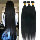 Brazilian 7A 100% Virgin Human Hair Extensions Weave 3Bundles 300G #1B Straight