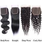 Brazilian Hair Lace Frontal Closure Virgin Human Hair 4*4 Closure Natural Color