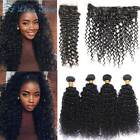 Brazilian Jerry Curly Hair Bundles with Closure Deep Curly Human Hair Extensions