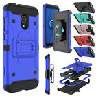 For Alcatel TCL LX A502DL Phone Case Hybrid Holster Kickstand Shockproof Cover