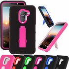 For T-Mobile REVVL / ALCATEL A30 FIERCE KickStand Phone Case Cover Armor P-Stand
