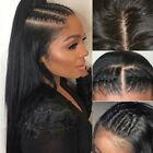 Glueless Brazilian Human Hair Full Lace Wigs Straight Jet black frontal wigs