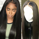 Glueless Lace Front Wig Silky Straight 100% 8A Natural Brazilian Human Hair Wigs