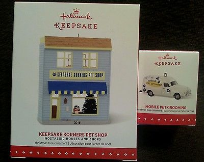 Hallmark: KEEPSAKE KORNERS PET SHOP #32 & MOBILE PET GROOMING LE Mini 2015