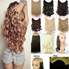 Hidden Invisible Wire Hairpiece Secret One Piece Hair Extensions Headband Curly