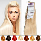 Invisible Glue Tape In THICK 100% Remy Human Hair Extensions 20PCS 50G Full Head