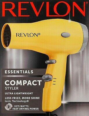 IONIC HAIR DRYER Revlon Compact 2 Speed Blower 1875W Powerful Women Blow Styler