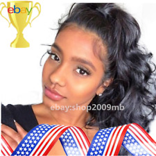 Lace Front Hair Wigs 250% Density Brazilian Body Wave Pre Plucked Wig+Baby Hair