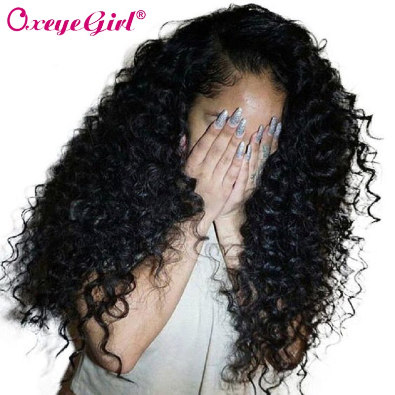 Lace Front Human Hair Wigs With Baby Hair Deep Wave Wig Brazilian Hair For Women Black Wig Remy Hair Lace Wig Long Oxeye girl