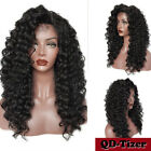 Long Kinky Curly Synthetic Lace Front Wigs Baby Hair Loose Curly Wig Black Women