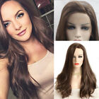 Natural Dark Brown For White Women Lace Front Human Hair Wig Daily Party 8A Ks1