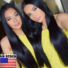 Natural Synthetic Straight Ponytail Black 30inch Long Hair Party Wigs For Women