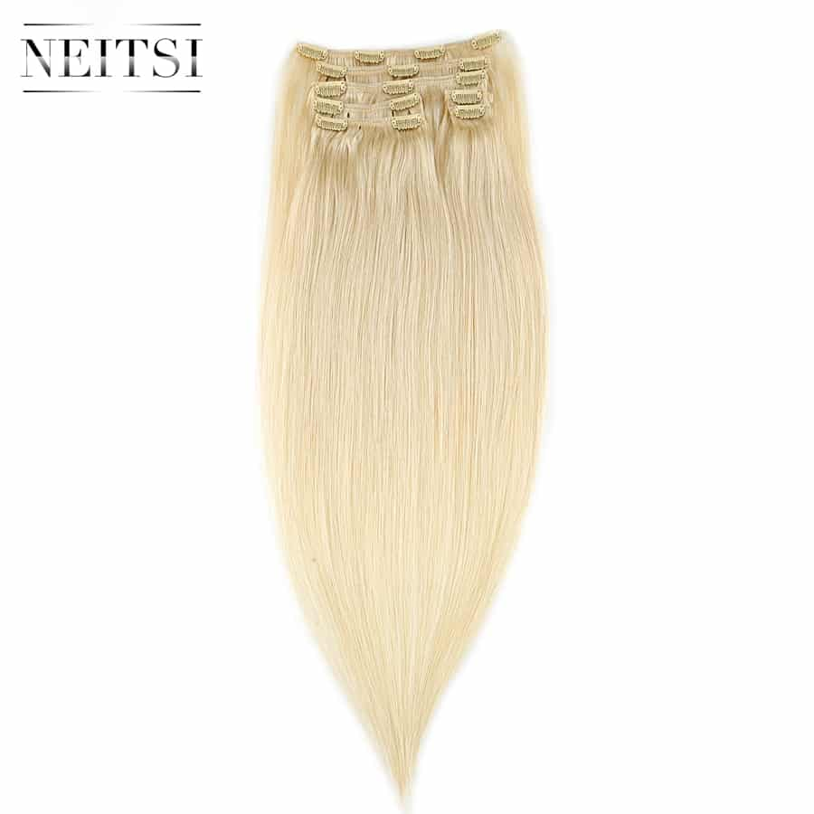 human hair extensions clip on 14