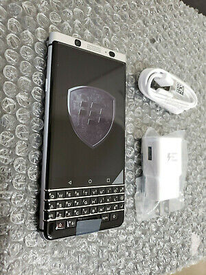 New BlackBerry KeyOne 32GB Silver GSM Unlocked Clean ESN Smartphone + More