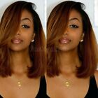 New Ombre Short Bob Wig Pre Plucked Brazilian Remy Human Hair Lace Front Wigs 97