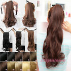 New Opening Curly Wavy Binding Ponytail Clip In On Hair Extensions As Human #LZY