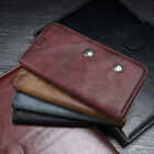 NEW Retro Leather Magnetic Flip Card Wallet Case Cover For Various Mobile Phones
