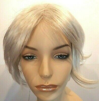 New White Wig Kanekalon Synthetic Wigs for Women, Short Style, Like Human Hair,