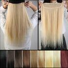 "One Piece 100% Real Clip In Remy Human Hair Extensions 18"" 20"" 3/4Full Head USPS"