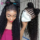 Pre Plucked Lace Front Human Hair Wigs With Baby Hair Deep Curly Brazilian Hair