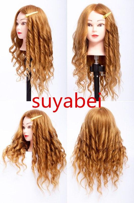 Pro head mannequin dummy 85% natural human Hair head Mannequin head with hair teaching head dummy